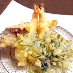 天ぷら盛り付け