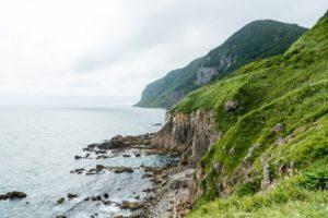 立待岬の断崖絶壁