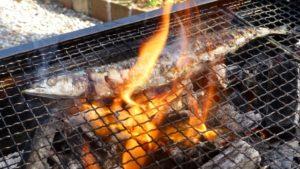 サンマの炭火焼き
