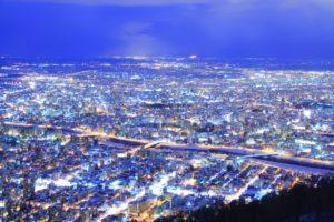 藻岩山から見る夜景