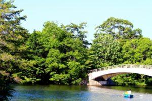 湖月橋とボート