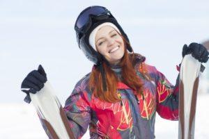スキー女子