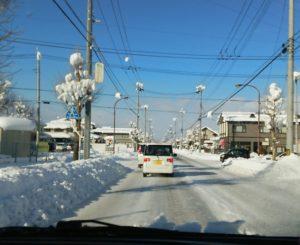 雪道の運転