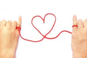 赤い糸で・・・