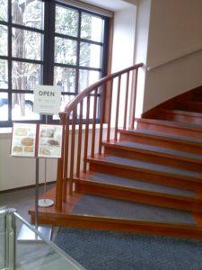 喫茶室への階段