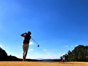 晴天のゴルフ