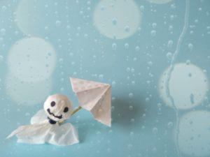 テルテル坊主と傘