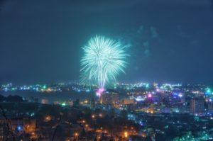 函館港まつりの花火