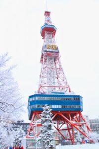 雪の札幌テレビ塔
